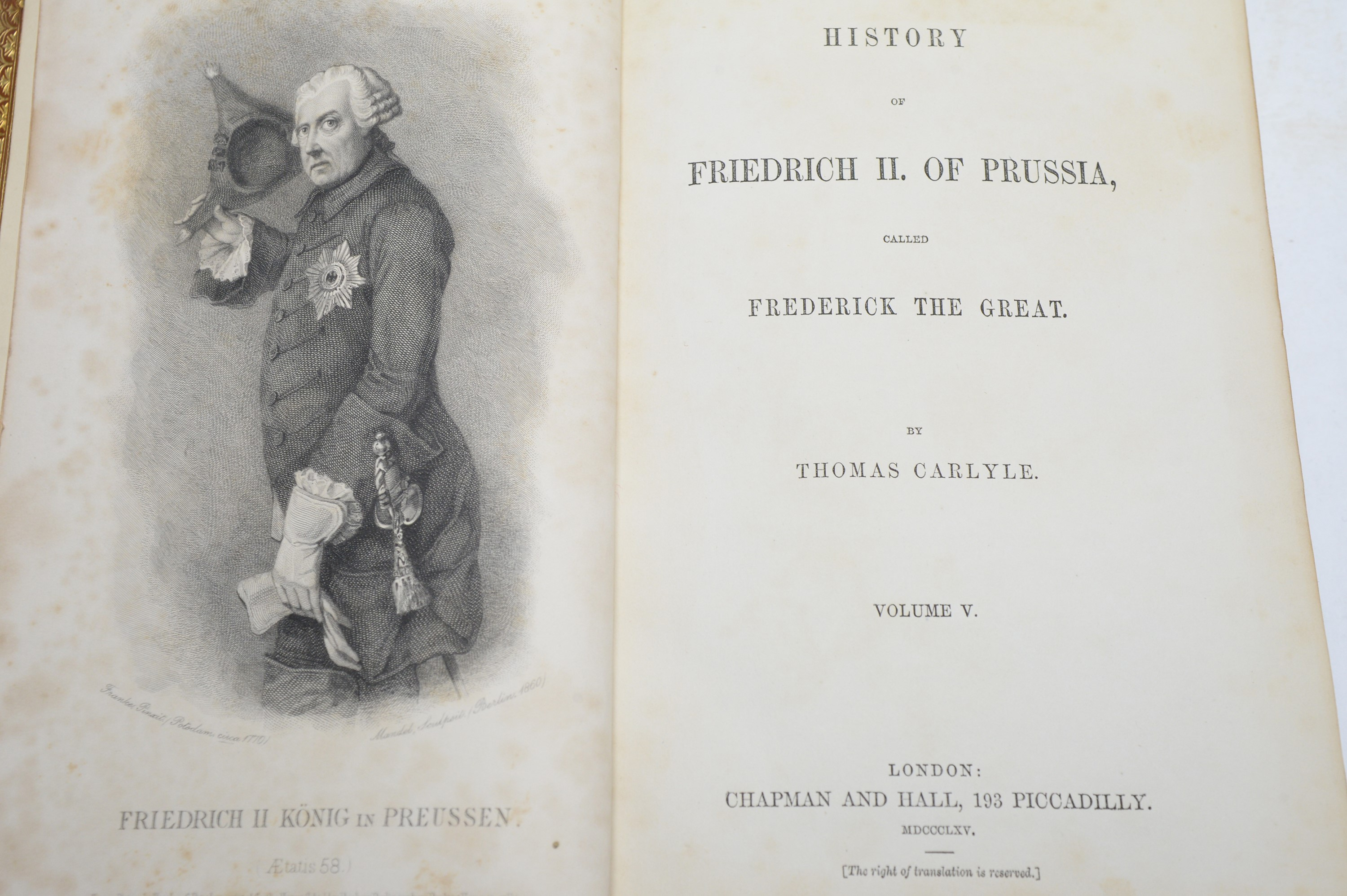 Carlyle (Thomas) History of Frederick The Great of Prussia. - Image 3 of 3