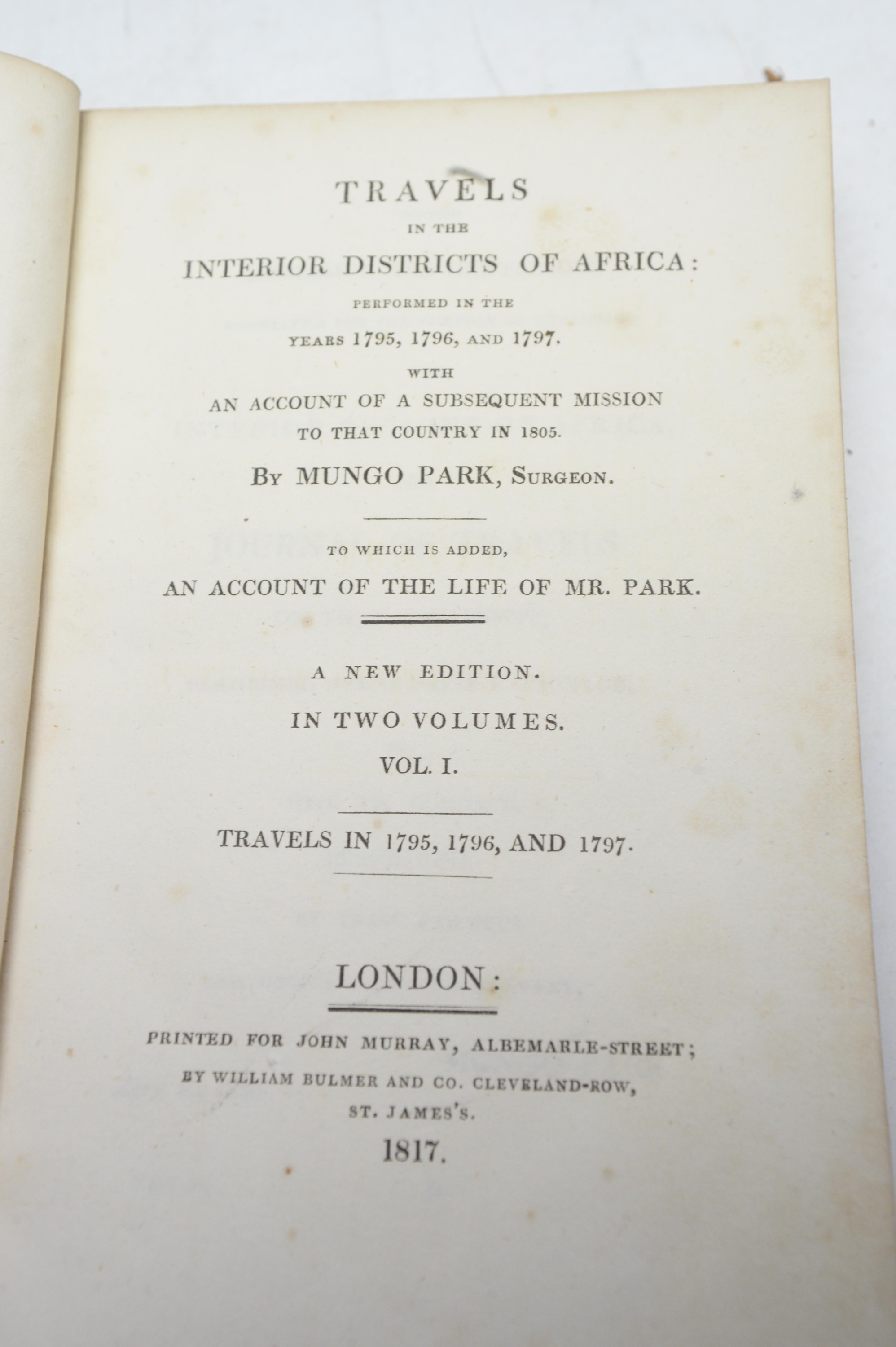 Park (Mungo) Travels In The Interior Districts of Africa... - Image 2 of 2