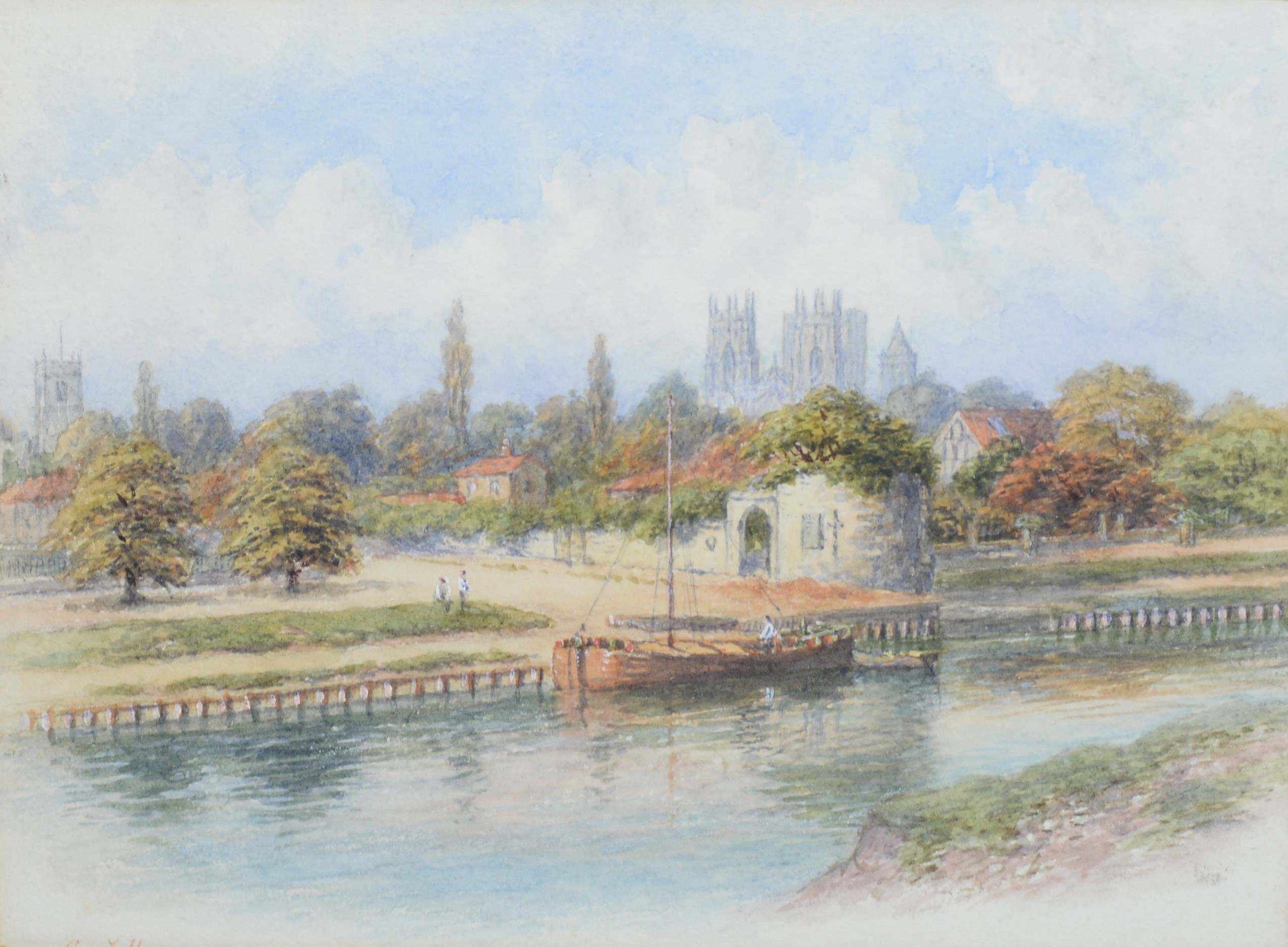 George Fall - watercolours. - Image 2 of 4