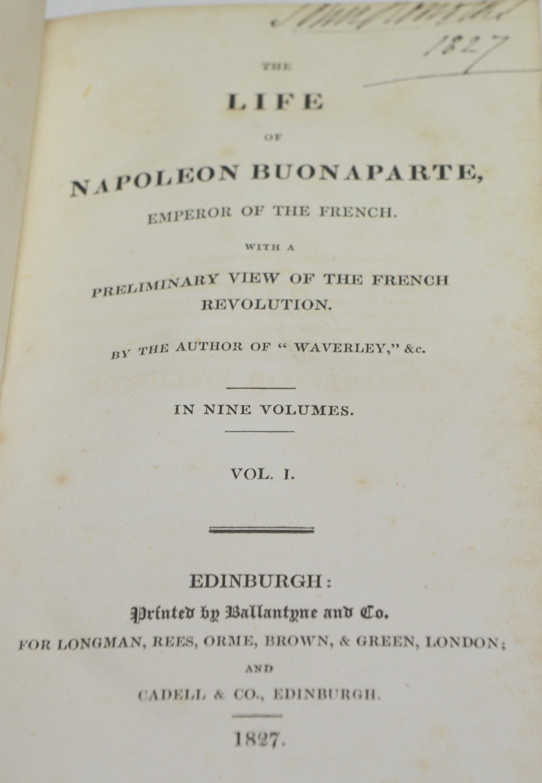 Scott (Sir Walter) The Life of Napoleon Buonaparte. - Image 2 of 2