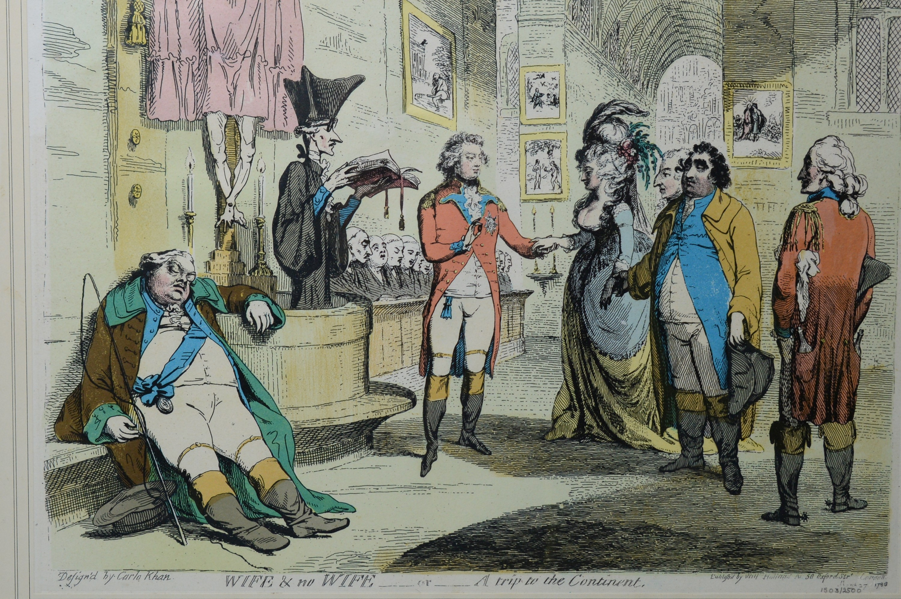After James Gillray - pair of prints. - Image 3 of 3