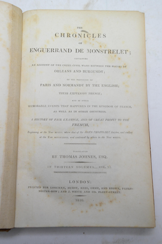 Froissart (Sir John), and De Monstrelet (Enguerrand) . - Image 4 of 4