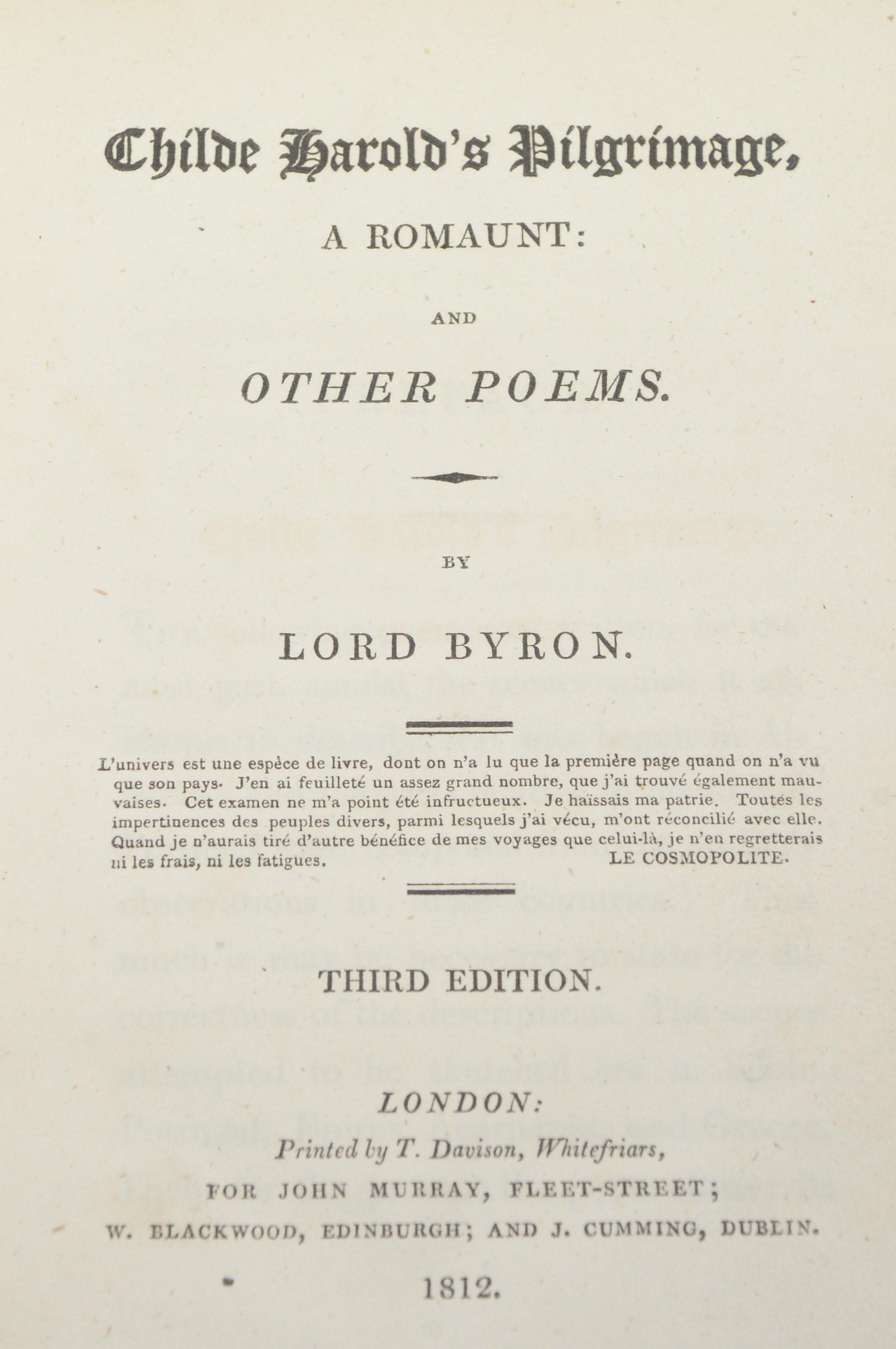 Brockedon (W.), and Lord Byron. - Image 4 of 5