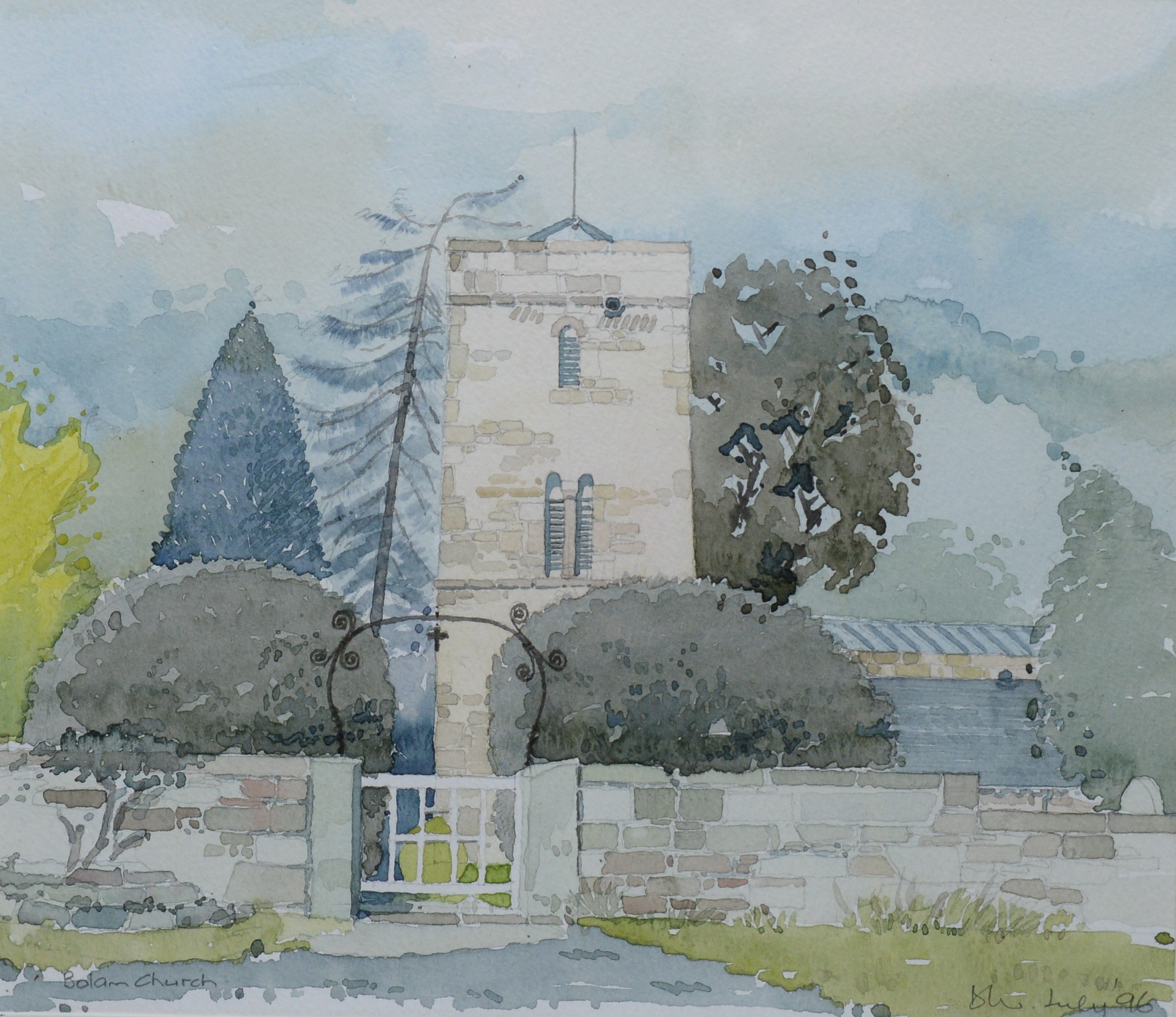 Douglass Wise - watercolour. - Image 2 of 4