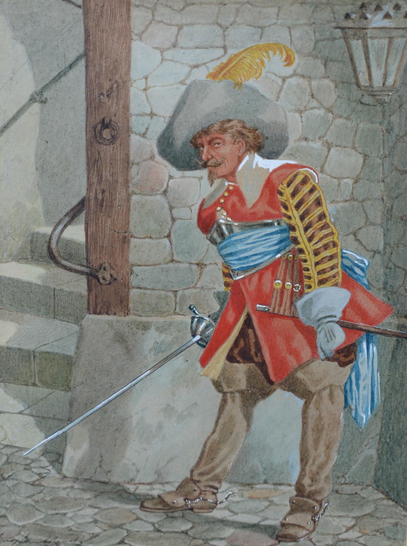 George Cruikshank, jnr. - watercolours. - Image 3 of 3