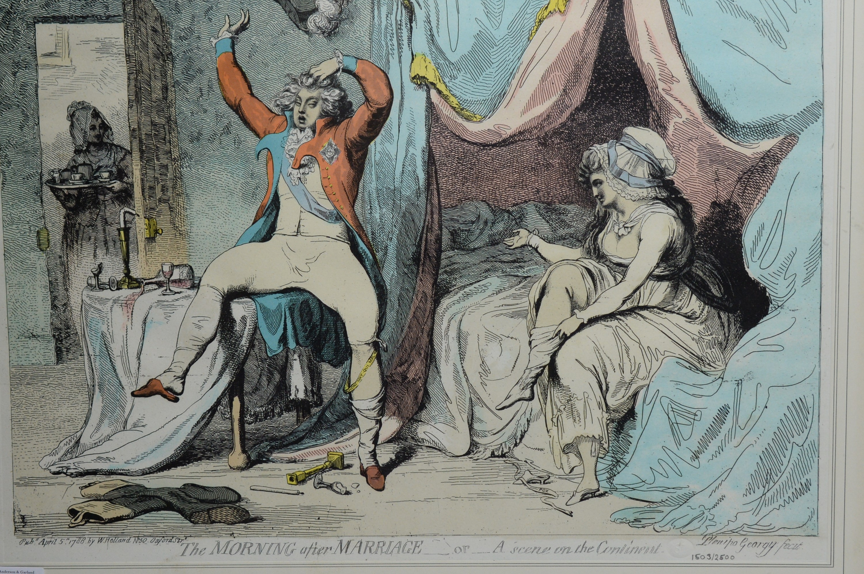 After James Gillray - pair of prints. - Image 2 of 3