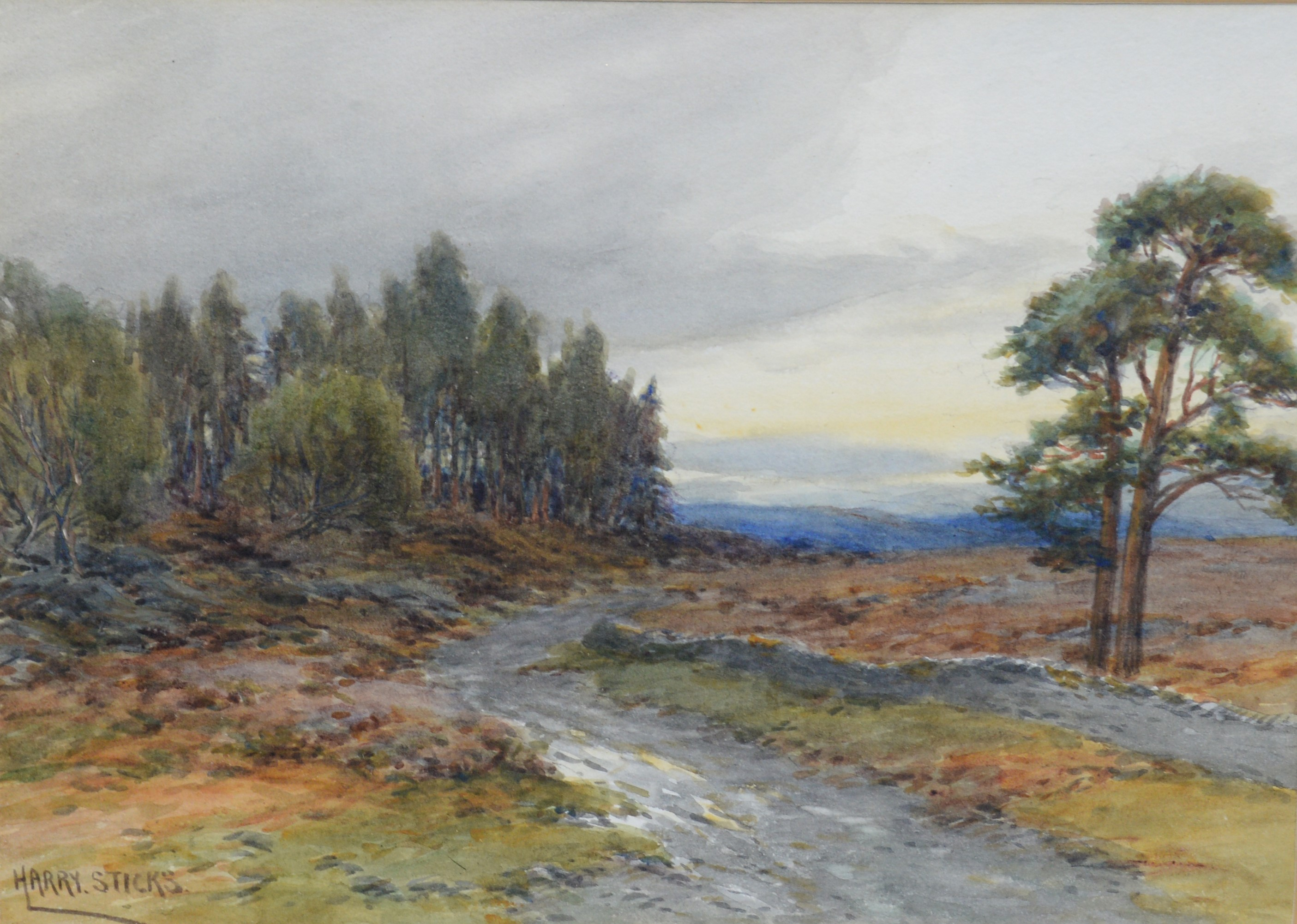 Harry James Sticks - watercolours. - Image 2 of 4