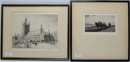 Joseph Kirkpatrick/M.C. Robinson - aquatint and etching.