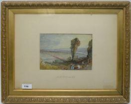 After Joseph Mallord William Turner - watercolour.