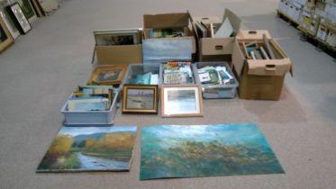 James Carlisle - Studio collection of paintings, etc.