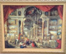 After Giovanni Paolo Panini - Textured print