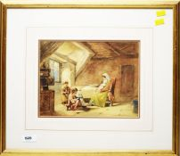 19th Century British School - watercolour.