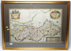 John Elphinstone - Antique map of Scotland.