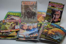 Sundry American Horror Magazines by Warren.