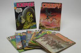 Eerie, Creepy and Psycho magazines.