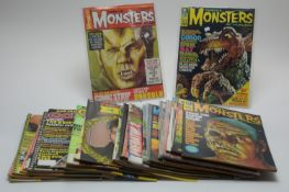 Thirty-one Monster, Horror, Sci-Fi, Pop and other magazines.