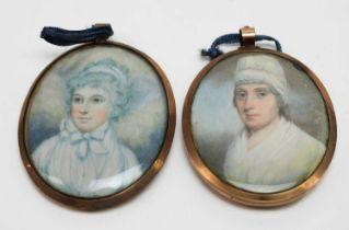 British School, 19th Century - miniatures