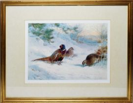 After Archibald Thorburn - coloured print