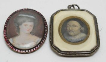 British School, 17th Century and 18th Century - miniatures