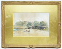 Manner of Robert Jobling - watercolour