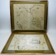 Gerard Van Keulen and Capt G. Collins - coloured engravings