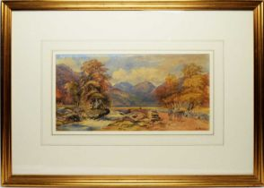 W* Hindall - watercolour