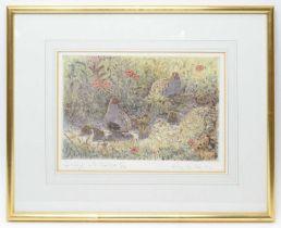 Peter Partington - coloured etching
