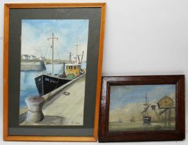 Fred Tordoff - watercolour and an oil on canvas