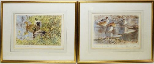 Peter Partington - coloured etchings