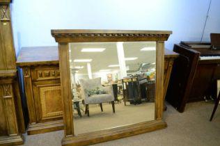 20th Century hardwood mirror