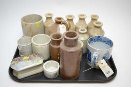 An early 19th Century pearlware mug and other items