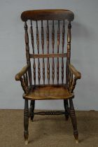 19th C elm Windsor chair.