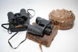 Binoculars and a tureen