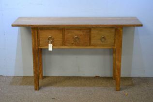 20th C satinwood console table.
