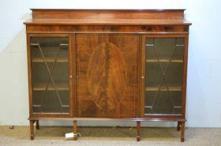 20th Century mahogany display cabinet.