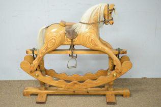 20th C rocking horse.