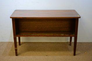 20th C mahogany library table.