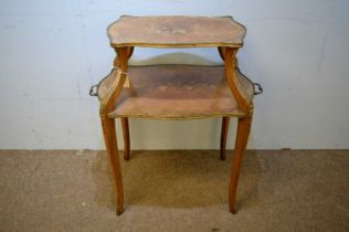 Late 19th C etagere of two tiers.