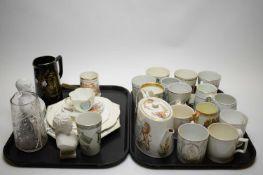 A quantity of Royal Commemorative porcelain and glassware