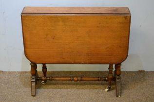 20th C walnut Sutherland table.
