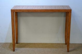 20th C hardwood console table.