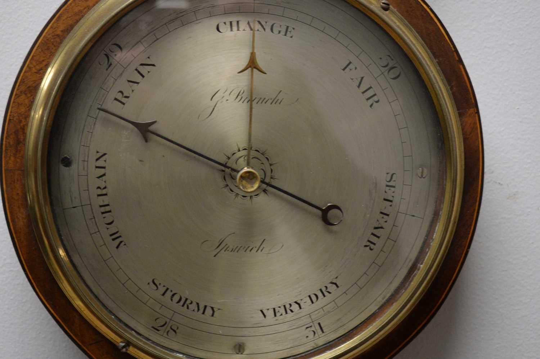 G Bianchi, Ipswich - 19th Century mahogany barometer - Image 3 of 3