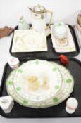 Royal Staffordshire Biarrritz pattern bowls; a Noritake water pot and saucer; etc.
