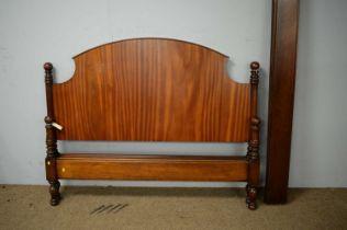 20th C mahogany bed.