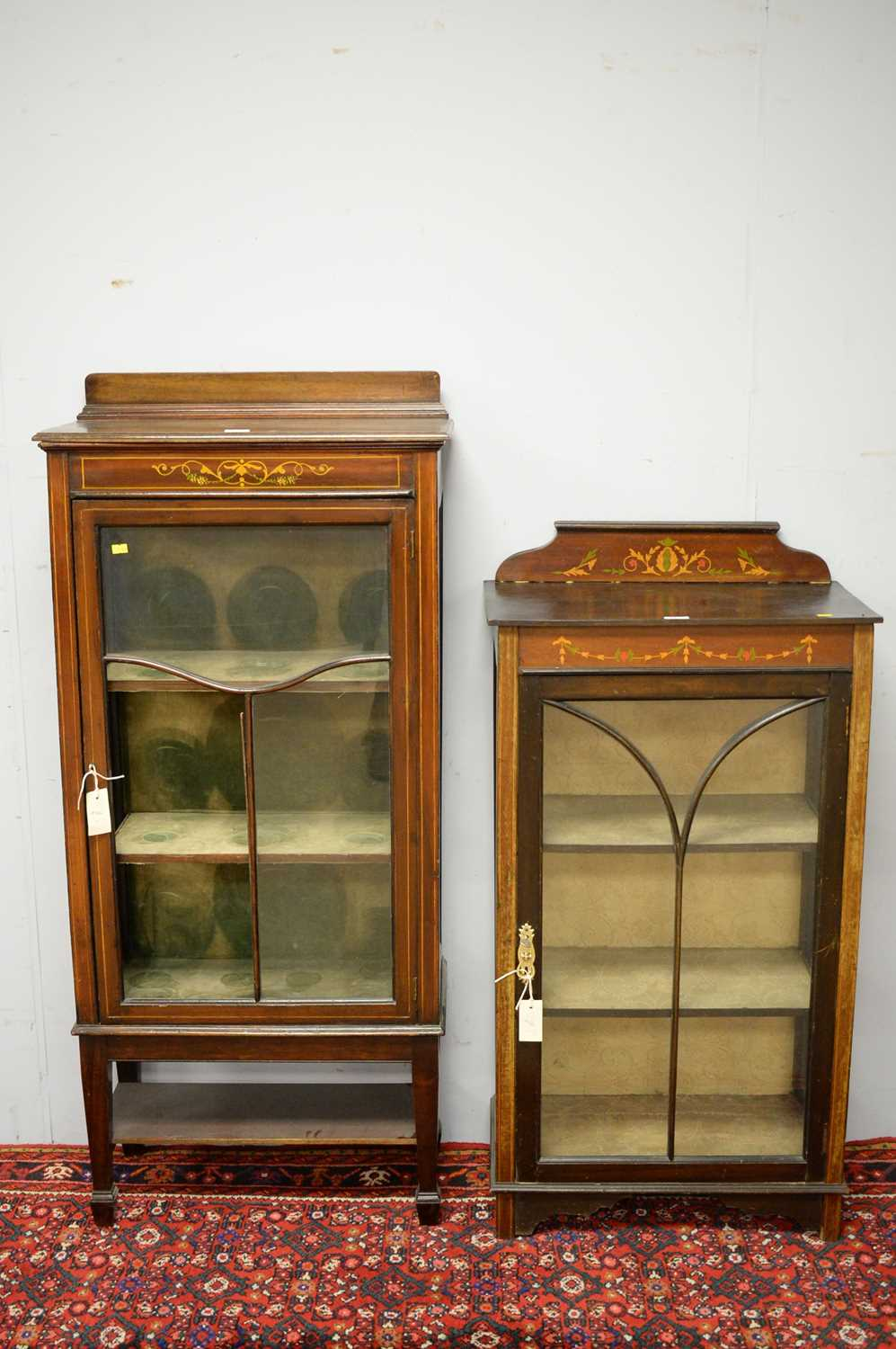 Two early 20th C display cabinets. - Image 2 of 6