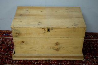 20th C stripped pine chest.