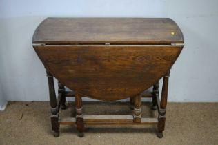 20th C oak gateleg table.
