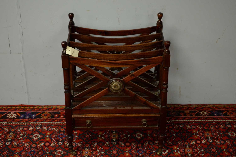 20th C mahogany canterbury. - Image 2 of 5