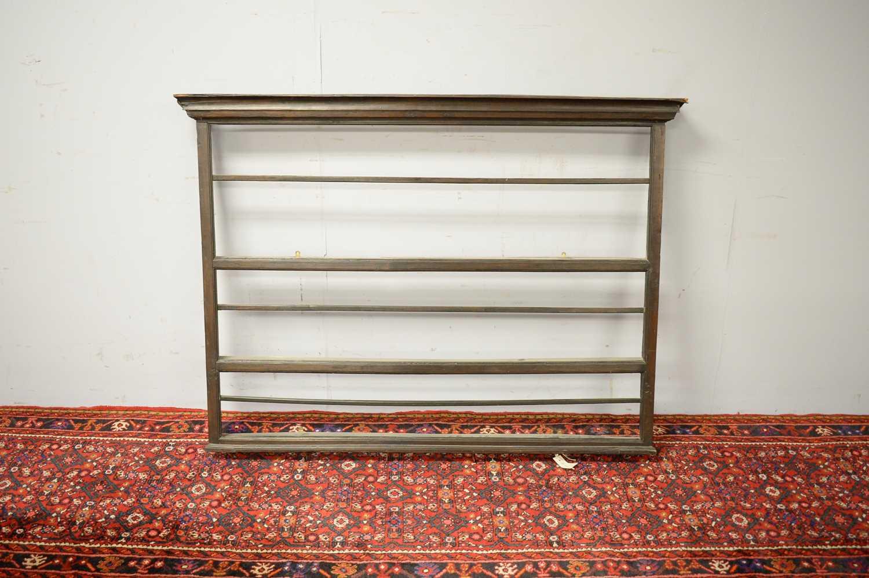 Set of 19th C oak hanging shelves. - Image 3 of 5
