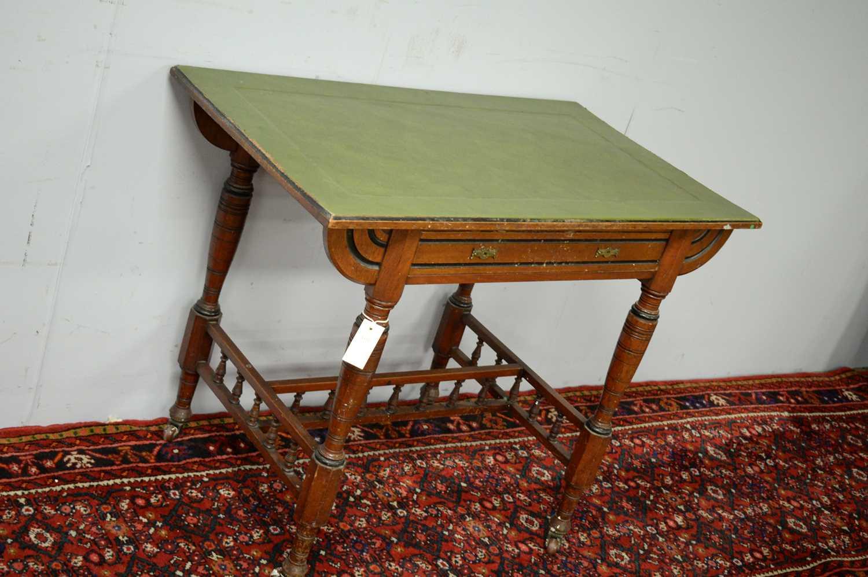 A Victorian walnut writing desk